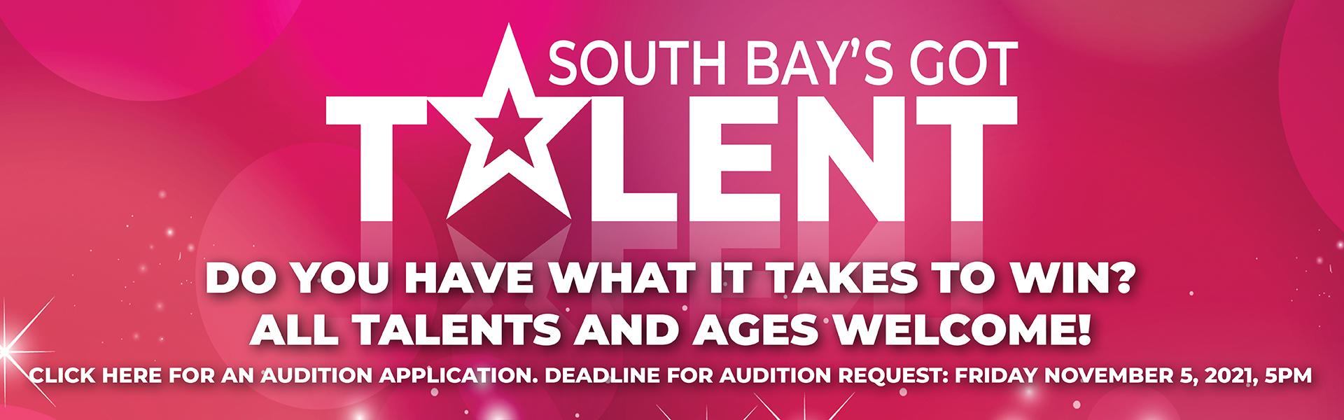 South Bay's Got Talent Audition Information